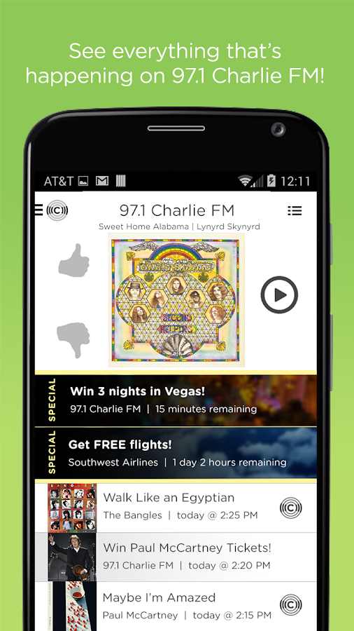 97.1 Charlie FM- screenshot
