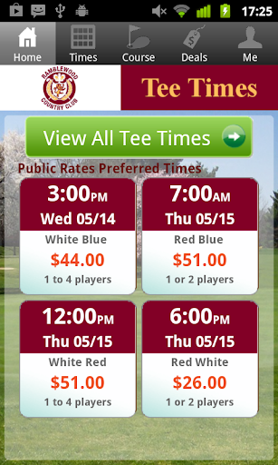 Ramblewood Golf Tee Times