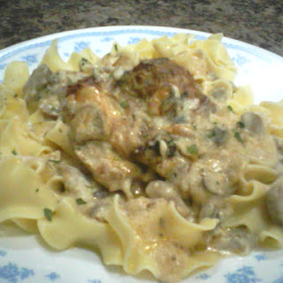 Creamy Mushrooms and Chicken.