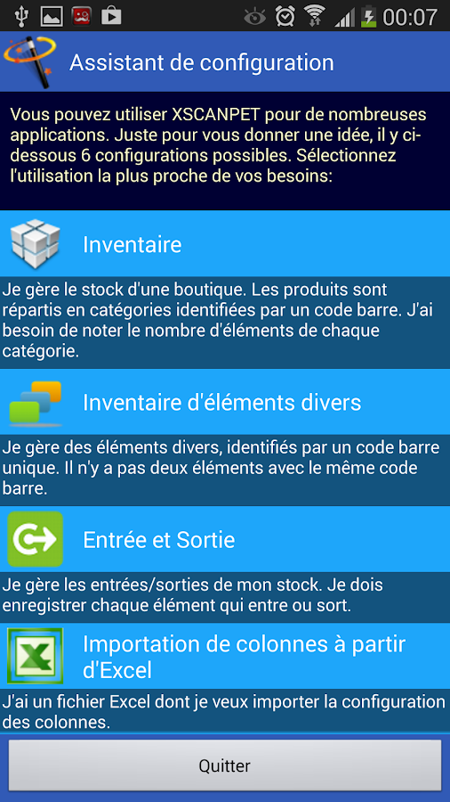 inventaire codes barre excel applications android sur google play. Black Bedroom Furniture Sets. Home Design Ideas