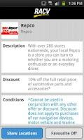 Screenshot of RACV - Show Your Card & Save