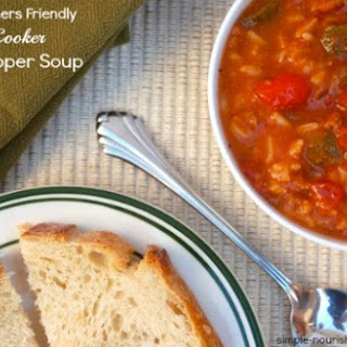 Slow Cooker Stuffed Pepper Soup.