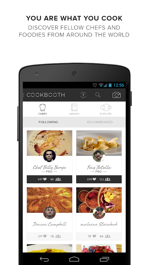 Cookbooth- screenshot