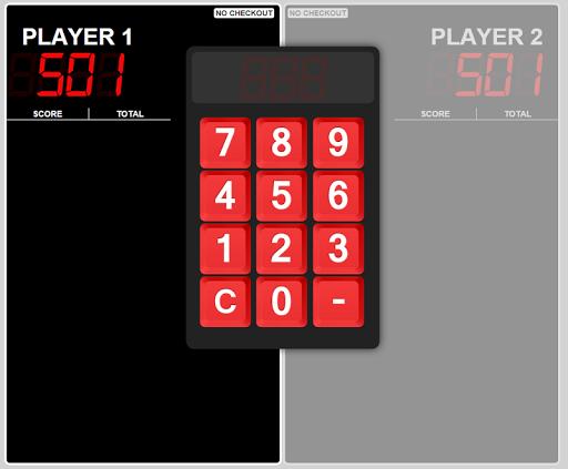 Big Bulls Darts Scoreboard