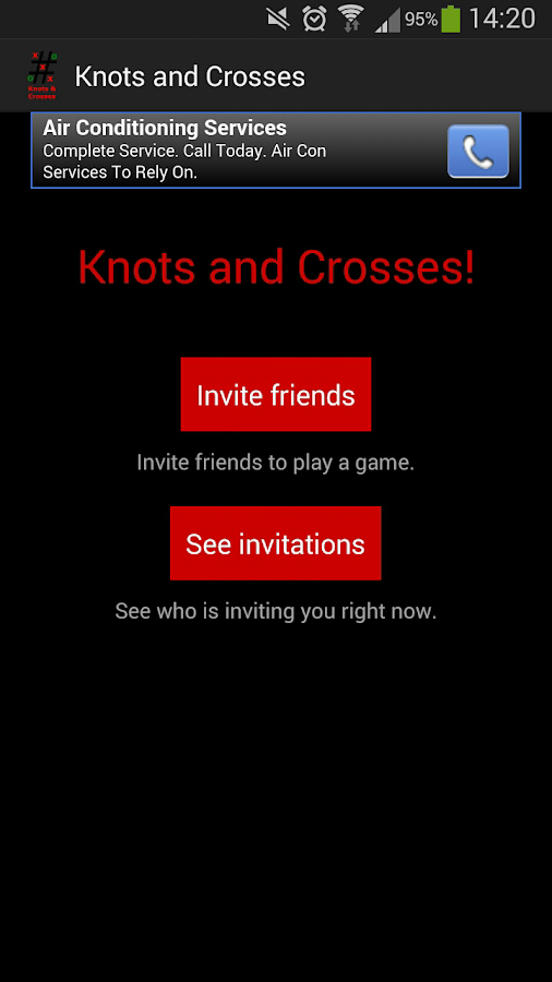 Knots and Crosses- screenshot
