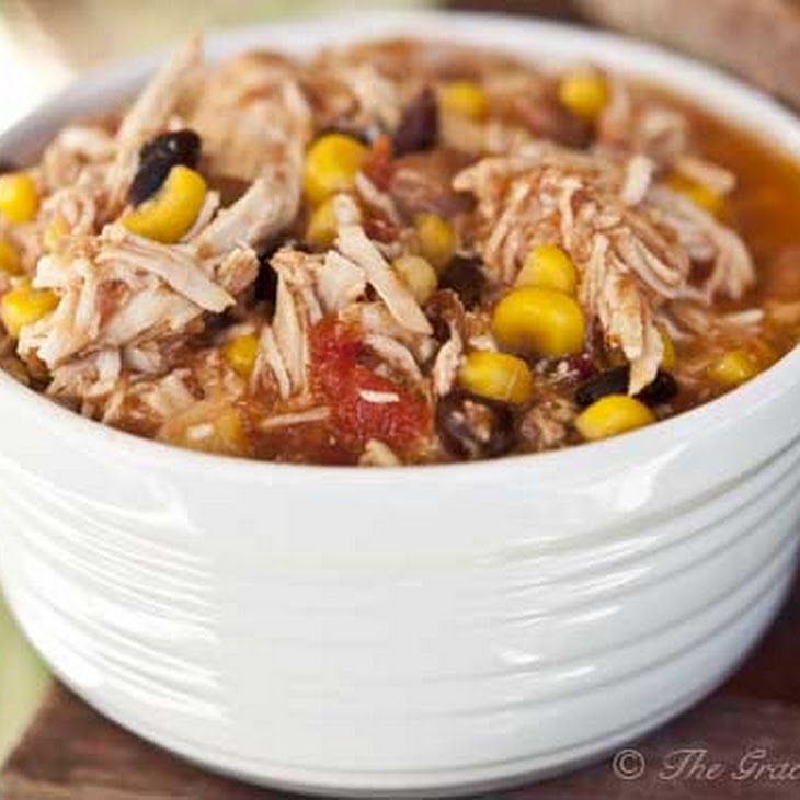 Clean Eating Slow Cooker Southwestern 2 Bean Chicken Recipe