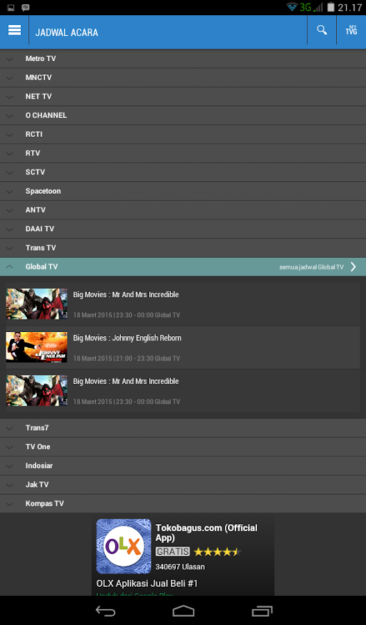 TVGuide Indonesia - Jadwal TV- screenshot