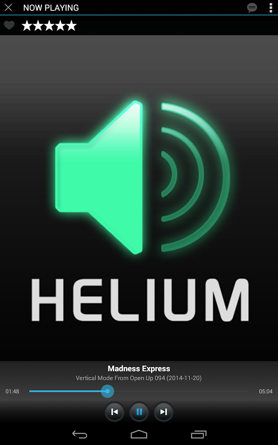 Helium Streamer- screenshot