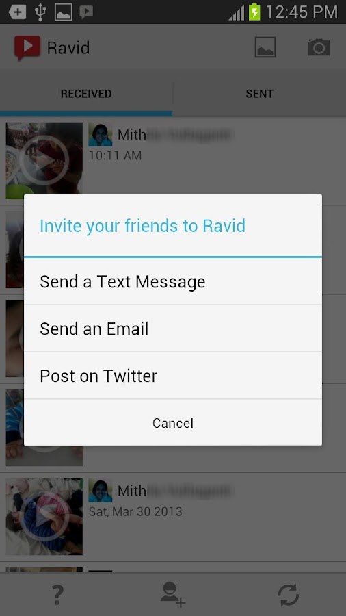 Ravid Video Messenger- screenshot