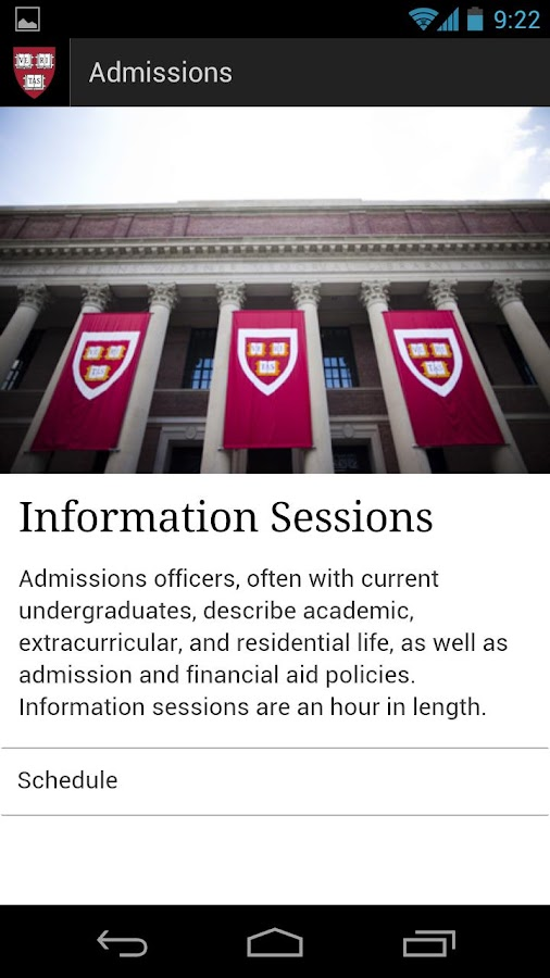 Harvard College Admissions & F - screenshot