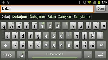 Screenshot of Slovak Keyboard Plugin