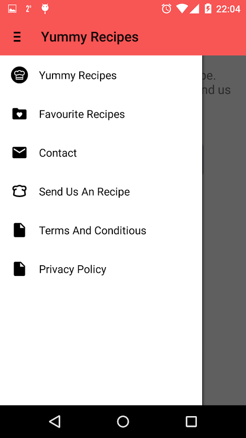 Yummy Recipes- screenshot