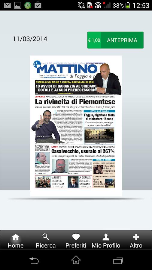 Il Mattino di Foggia- screenshot