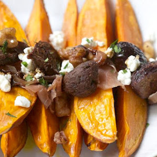 Roasted Sweet Potatoes with Dried Figs.