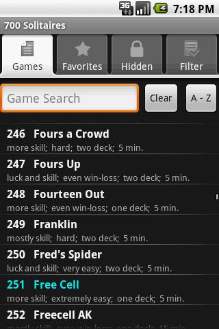 700 Solitaire Games Free- screenshot