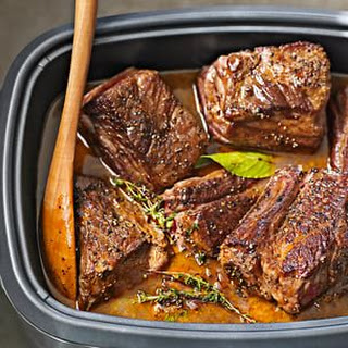 Braised Short Ribs with Carrots.
