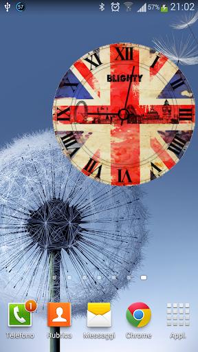 ENGLAND CLOCK WIDGET