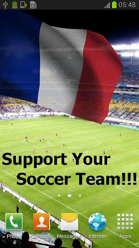 3Dフランス国旗国歌