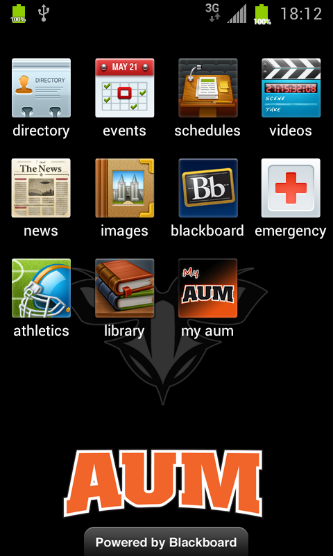 AUM - screenshot