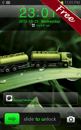 Green Leaf GO Locker Theme