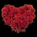 BEAUTIFUL ROSES Heart Clock logo