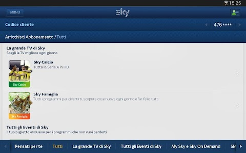 Sky Fai da te per Tablet screenshot 2