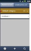 Screenshot of Maxthon SkyNote