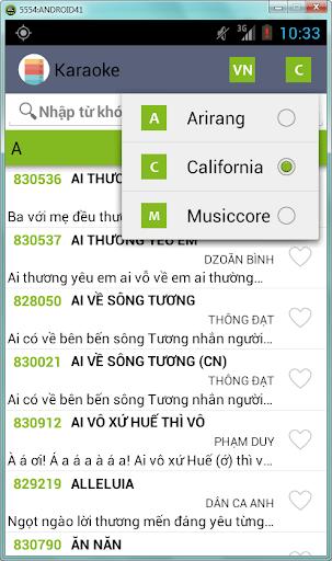 Karaoke Viet có lời+địa điểm