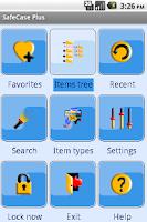 Screenshot of SafeCase