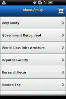 Screenshot of Amity University