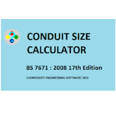 CONDUIT SIZE CALCULATOR BS7671