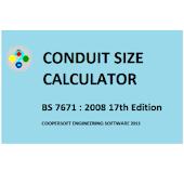 CONDUIT SIZE CALCULATOR BS7671