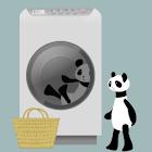 Panda washing Live Wallpaper icon