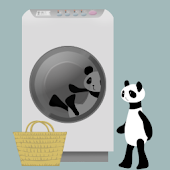 Panda washing Live Wallpaper
