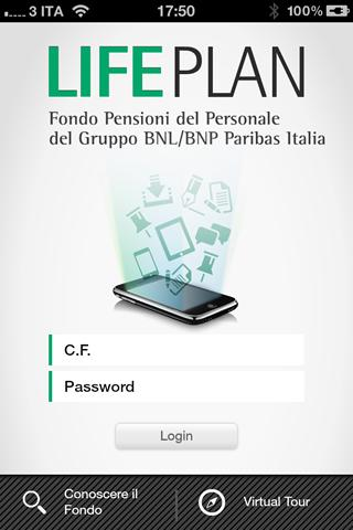 FP BNL/BNPP Italia Life Plan- screenshot
