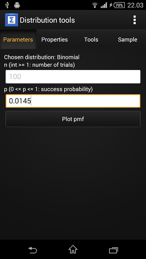 STA: Statistical Toolbox- screenshot