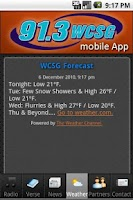 Screenshot of WCSG 91.3
