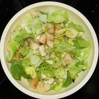 Pear, Feta, and Lettuce Salad.