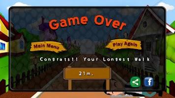 Screenshot of Crazy Drunk Man: Running Game