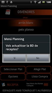 Menú Planning (Català) - screenshot thumbnail