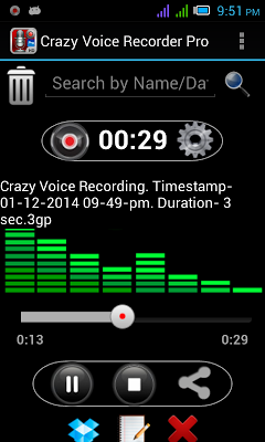 Crazy Voice Recorder - screenshot