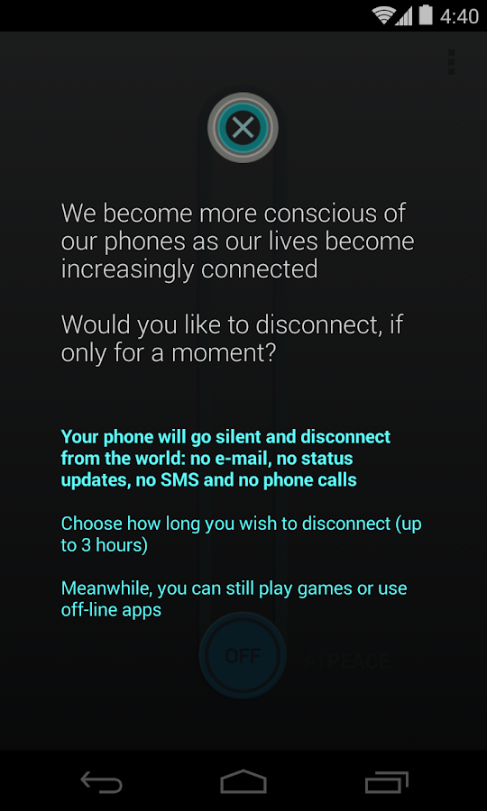 Peace of Mind+ (Fairphone)- screenshot