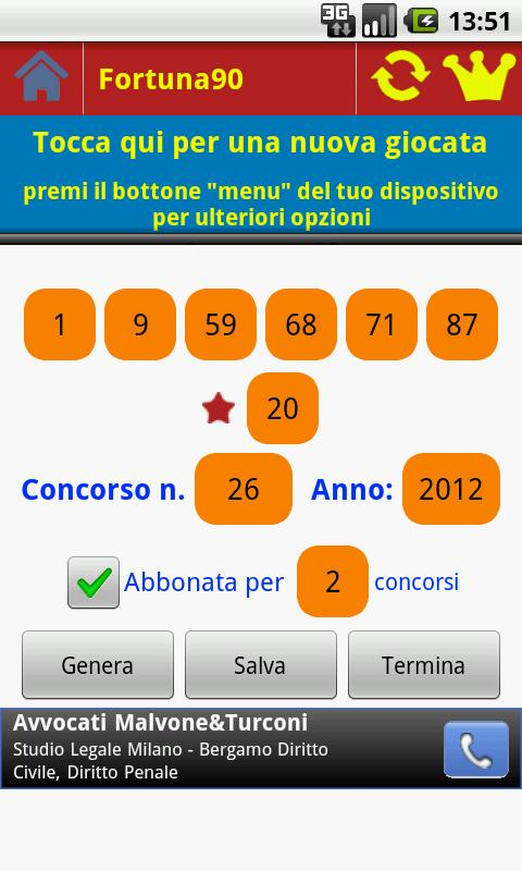 Superenalotto Fortuna 90- screenshot