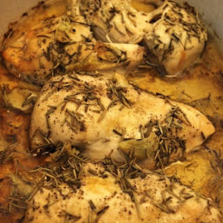 Crock Pot Mediterranean Chicken.