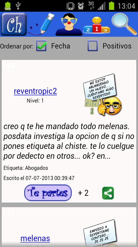 Chistes Android - screenshot