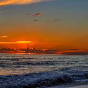Sunset from Blouberg Beach  by Reon Rich - Landscapes Sunsets & Sunrises ( sunset, beach, cape town,  )