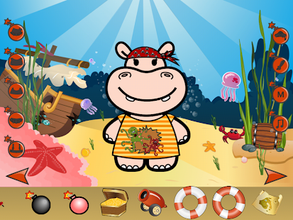 Hippo Dress Up Game- screenshot thumbnail