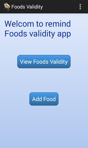 Food Validity