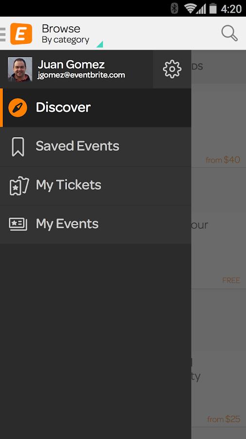 Eventbrite - screenshot
