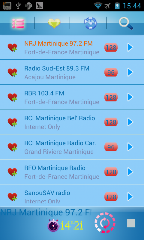 Martinique Radio - screenshot